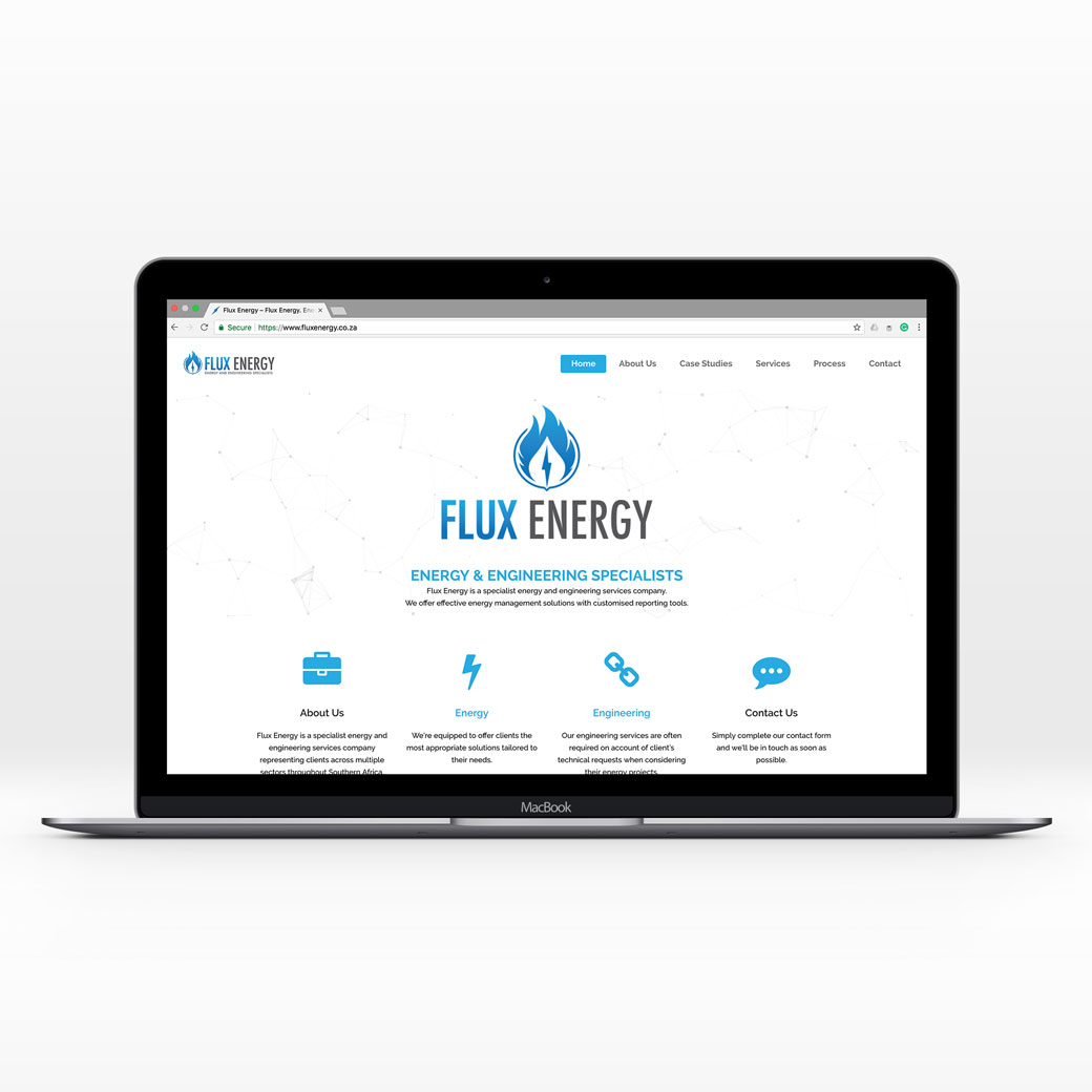 Flux Energy website feature