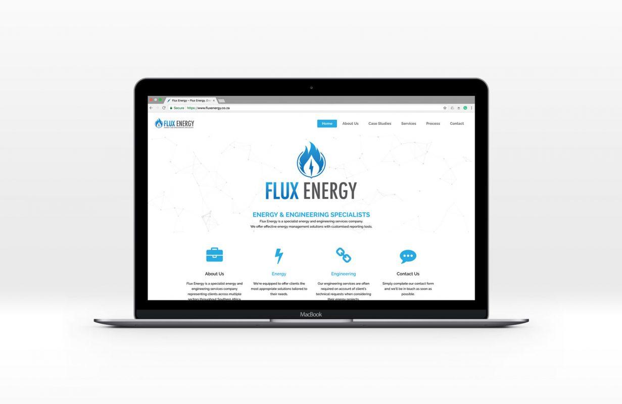 Flux Energy website