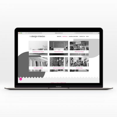 website design for redesign interiors