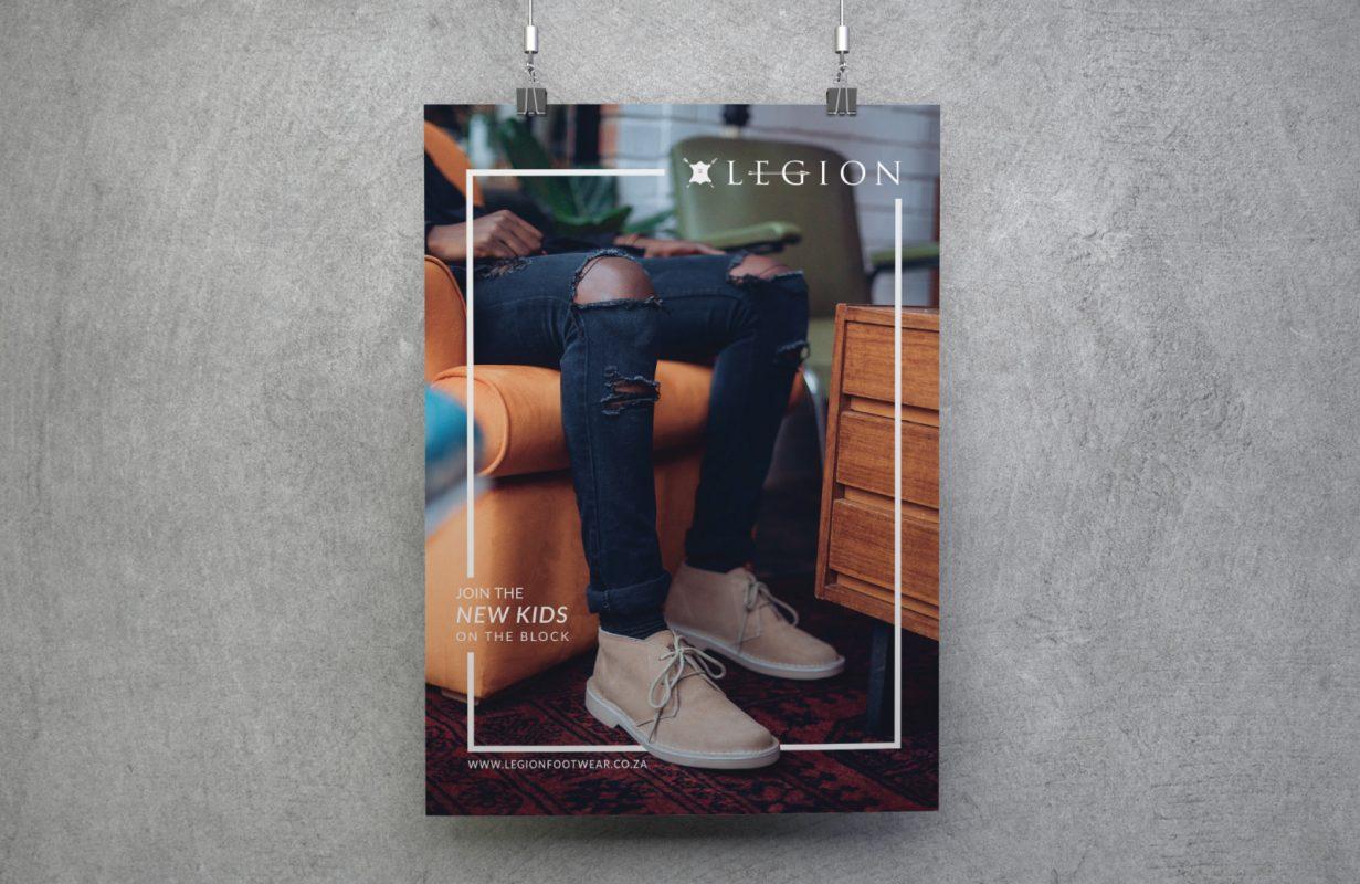 Legion shoes for print advert