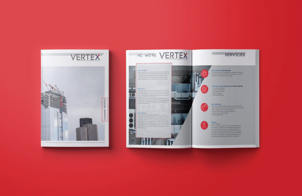 Vertex brochure design