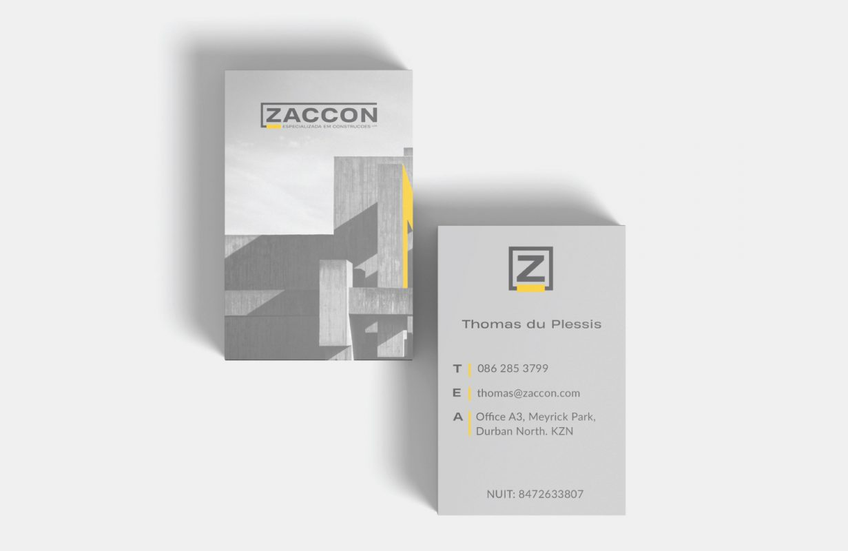 Zaccon business card mockup