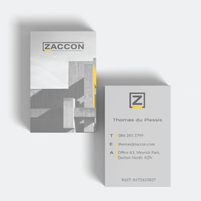 Zaccon business card design