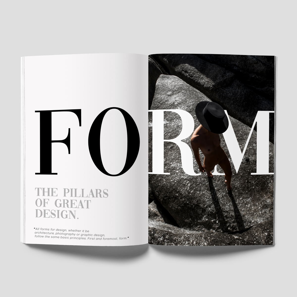 magazine layout for graphic design